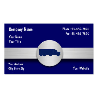 Cartões de visitas de transporte por caminhão