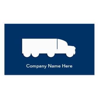 Cartões de visitas de transporte por caminhão simp