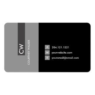 Cartões de visitas de travamento do olho de prata