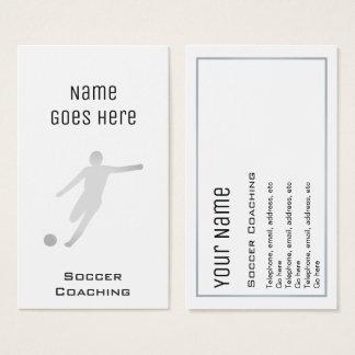 Cartões de visitas de treinamento do futebol