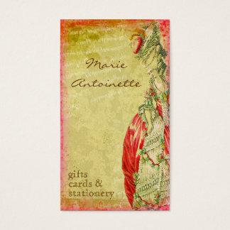 Cartões de visitas de Versalhes Marie Antoinette