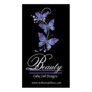Cartões de visitas de vidro do design das borbolet