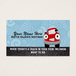 Cartões de visitas de vidro do reparo do carro