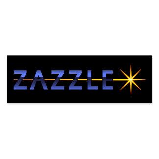 Cartões de visitas de Zazzle
