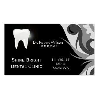 Cartões de visitas dentais com cartão da nomeação