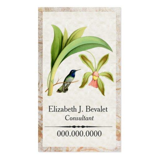 Cartões de visitas dirigidos violetas do colibri