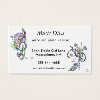cartões de visitas:  diva da música
