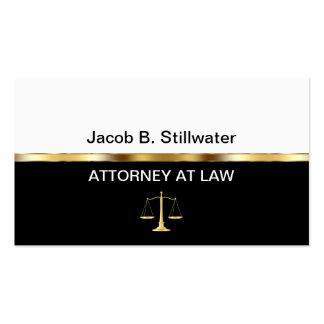 Cartões de visitas do advogado