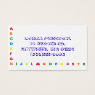 """Cartões de visitas do """"alfabeto"""""""