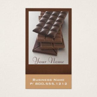 Cartões de visitas do amante do chocolate