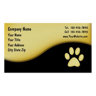 Cartões de visitas do animal de estimação