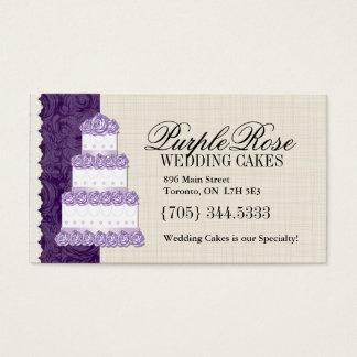 Cartões de visitas do artista do bolo de casamento