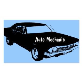Cartões de visitas do auto mecânico