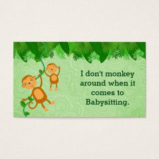 Cartões de visitas do baby-sitter