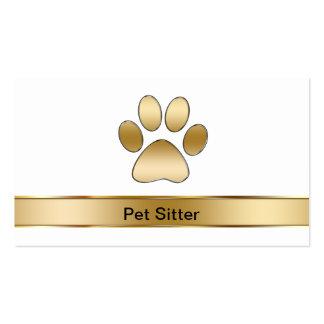 Cartões de visitas do baby-sitter do animal de est