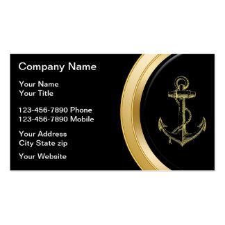 Cartões de visitas do barco