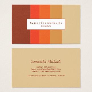 Cartões de visitas do bloco da cor do outono