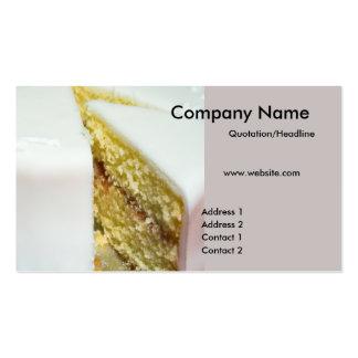 Cartões de visitas do bolo