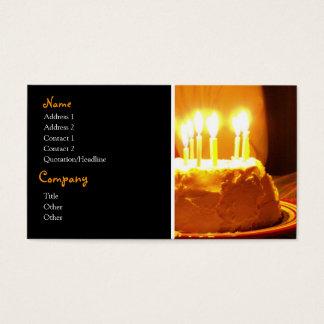 Cartões de visitas do bolo de aniversário