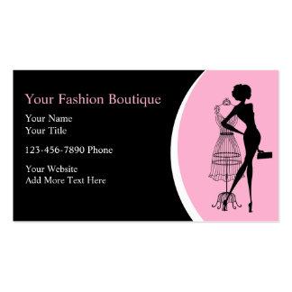 Cartões de visitas do boutique da roupa
