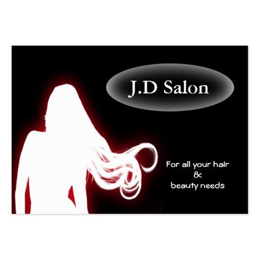 Cartões de visitas do cabeleireiro