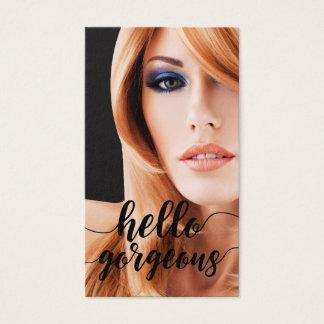 Cartões de visitas do cabeleireiro da beleza