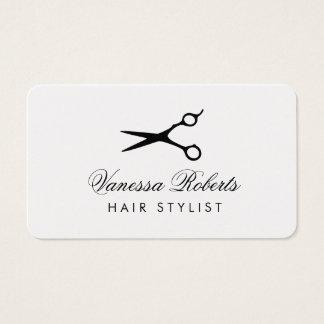 Cartões de visitas do cabeleireiro para salões de