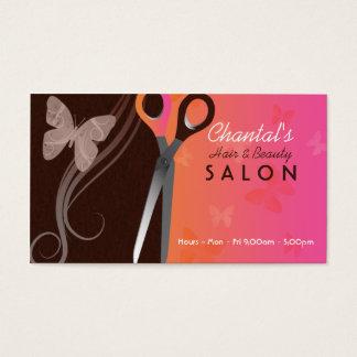 Cartões de visitas do cabelo e do salão de beleza