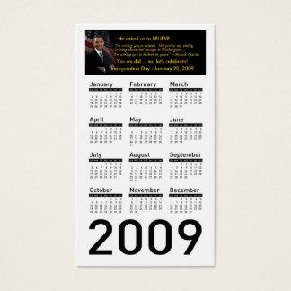 Cartões de visitas do calendário da inauguração