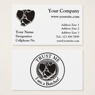 Cartões de visitas do carniceiro no fundo branco