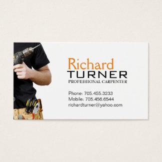 Cartões de visitas do carpinteiro e do
