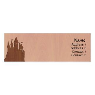 Cartões de visitas do castelo do conto de fadas