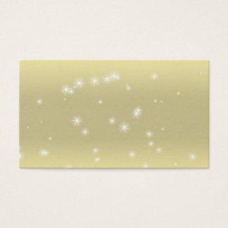 Cartões de visitas do céu do ouro da luz da faísca