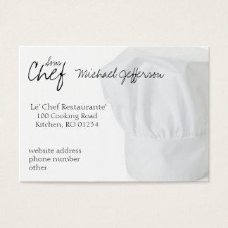 Cartões de visitas do chapéu do cozinheiro chefe
