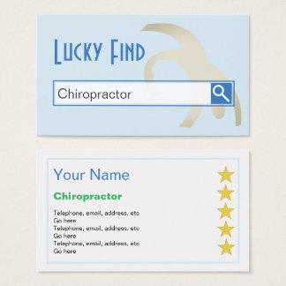 """""""Cartões de visitas do Chiropractor do achado Cartão De Visitas"""