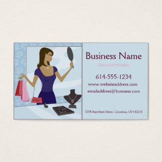 Cartões de visitas do cliente da jóia