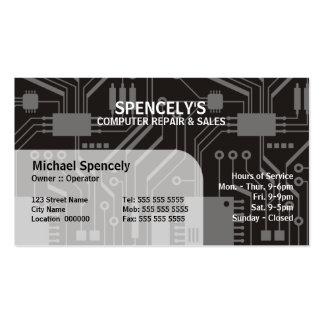 Cartões de visitas do conselho de circuito elétric