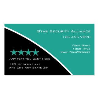 Cartões de visitas do consultor de segurança