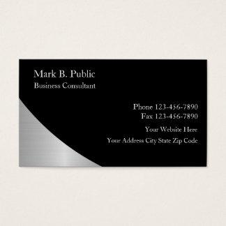 Cartões de visitas do consultor empresarial