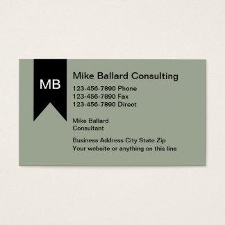Cartões de visitas do consultor empresarial do