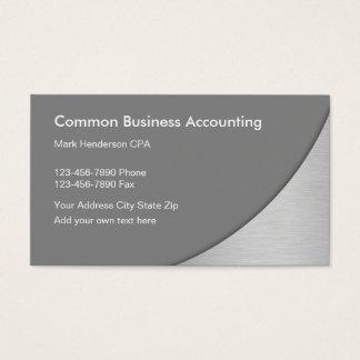 Cartões de visitas do contador