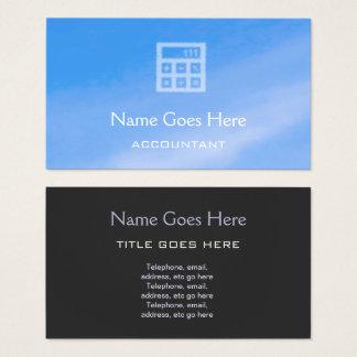 """Cartões de visitas do contador do """"céu"""""""