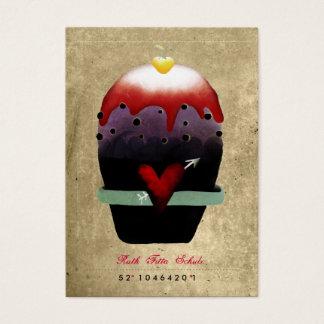 Cartões de visitas do coração da crosta de gelo do