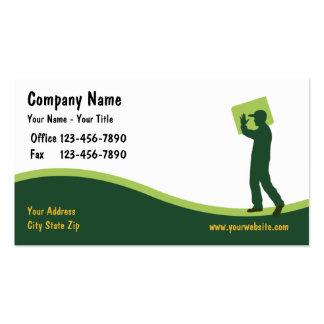 Cartões de visitas do correio