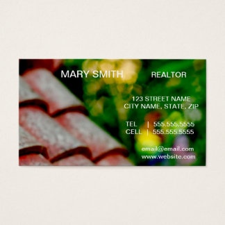 Cartões de visitas do corretor de imóveis