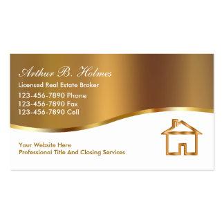 Cartões de visitas do corretor imobiliário