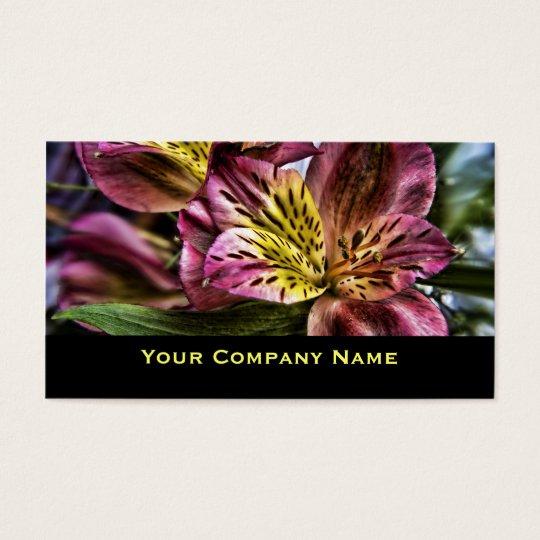 Cartões de visitas do costume da flor do lírio