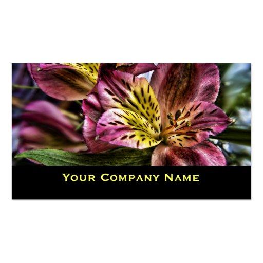 Cartões de visitas do costume da flor do lírio per