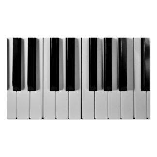 Cartões de visitas do costume do teclado de piano