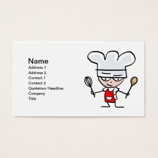 Cartões de visitas do cozimento - cozinheiro chefe
